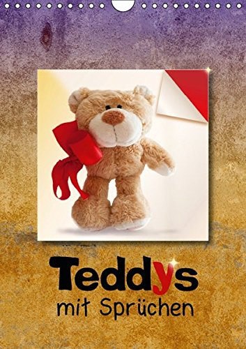 9783664601745: Teddys mit Spr�chen (Wandkalender 2016 DIN A4 hoch): B�rige Spr�che schenken Harmonie und Lebensfreude. (Monatskalender, 14 Seiten)