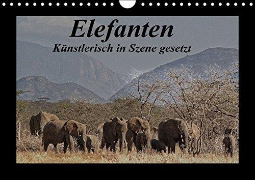 9783664639779: Elefanten - K�nstlerisch in Szene gesetzt (Wandkalender 2016 DIN A4 quer): Elefanten - digitale Fotokunst, lassen Sie sich verzaubern! (Monatskalender, 14 Seiten)