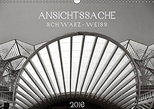 9783664707270: Ansichtssache schwarz-weiß (Wandkalender 2016 DIN A3 quer): Teilansichten und ungewöhnliche Perspektiven (Monatskalender, 14 Seiten)