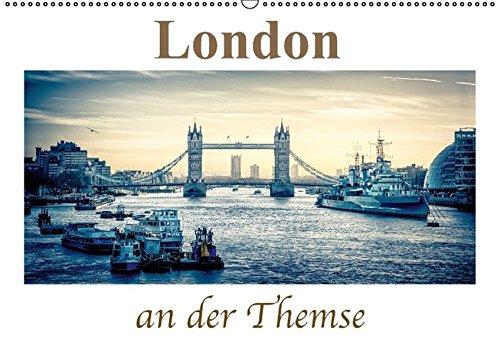 9783664798209: London an der Themse (Wandkalender 2017 DIN A2 quer): Erleben Sie die Metropole von London im Retro Style (Monatskalender, 14 Seiten)