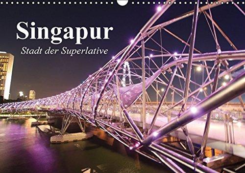 9783664809660: Singapur. Stadt der Superlative (Wandkalender 2017 DIN A3 quer): Asiens schönste Metropole (Monatskalender, 14 Seiten)