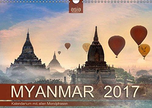 9783664826308: Myanmar 2017 mit Mondphasen (Wandkalender 2017 DIN A3 quer): Fotografien aus Buddhas goldenem Land (Monatskalender, 14 Seiten)