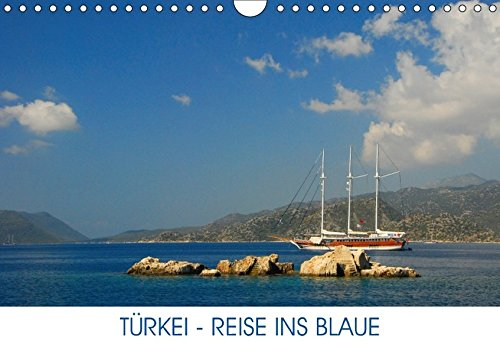 9783664837977: Türkei - Reise ins Blaue (Wandkalender 2017 DIN A4 quer): Türkei - malerische Küste und blaues Meer (Monatskalender, 14 Seiten )