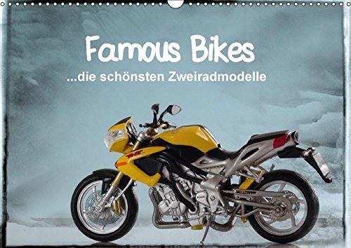 9783665100285: Famous Bikes - die schönsten Zweiradmodelle (Wandkalender 2017 DIN A3 quer): 13 detailgetreue Motorrad-Miniaturen ansprechend in Szene gesetzt (Monatskalender, 14 Seiten )