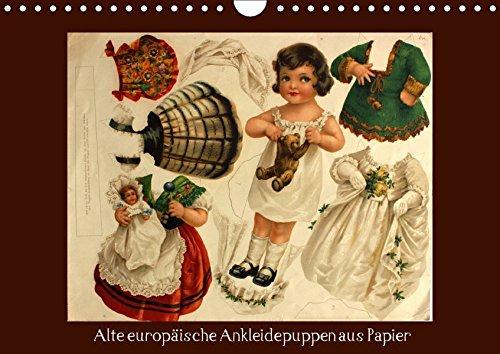 9783665137052: Alte europäische Ankleidepuppen aus Papier (Wandkalender 2017 DIN A4 quer): Charmante alte Bögen mit Anziehpuppen zum Anschauen oder Ausschneiden (Monatskalender, 14 Seiten ) (CALVENDO Kunst)