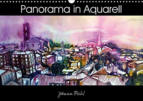 9783665190637: Panorama in Aquarell (Wandkalender 2017 DIN A3 quer): Kalender mit Panorama-Ansichten von verschiedenen Regionen in Aquarell (Monatskalender, 14 Seiten )