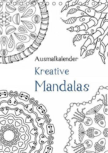 9783665234232: Ausmalkalender - Kreative Mandalas (Tischkalender 2017 DIN A5 hoch): Kalender zum Selberausmalen (Planer, 14 Seiten )