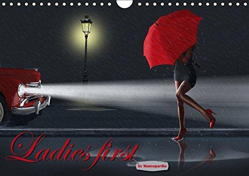 9783665297312: Ladies first by Mausopardia (Wandkalender 2017 DIN A4 quer): Frauen- Silhouetten, märchenhaft, romantisch und sexy im Retro Style (Monatskalender, 14 Seiten )