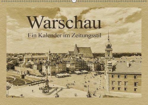 9783665324643: Warschau - Ein Kalender im Zeitungsstil (Wandkalender 2017 DIN A2 quer): Die Hauptstadt Polens in außergewöhnlichen Bildern (Monatskalender, 14 Seiten )