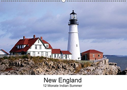9783665355494: New England - 12 Monate Indian Summer (Wandkalender 2017 DIN A2 quer): Die Farben der neuen Welt (Monatskalender, 14 Seiten )