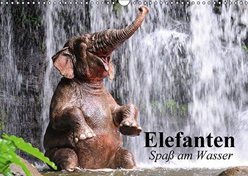 9783665369361: Elefanten. Spaß am Wasser (Wandkalender 2017 DIN A3 quer): Elefanten Babys beim Baden in Thailand (Geburtstagskalender, 14 Seiten )
