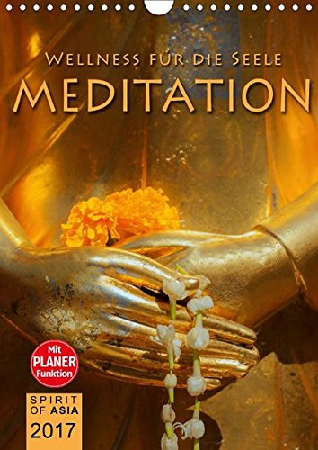 9783665377601: MEDITATION - Wellness für die Seele (Wandkalender 2017 DIN A4 hoch): Meditieren und Träumen mit unvergesslichen Fotografien (Planer, 14 Seiten)