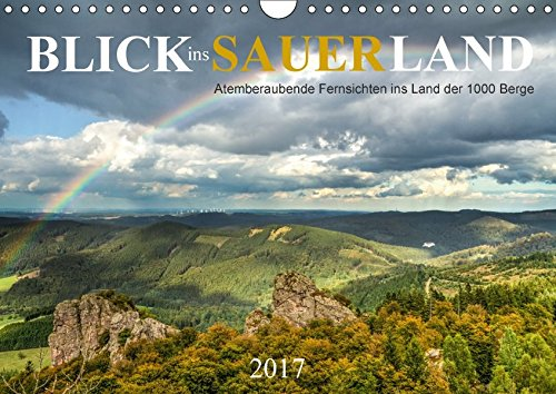 9783665426712: Blick ins Sauerland (Wandkalender 2017 DIN A4 quer): Atemberaubende Fernsichten ins Land der 1000 Berge (Monatskalender, 14 Seiten )
