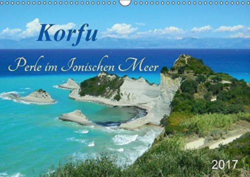 9783665436551: Korfu, Perle im Ionischen Meer (Wandkalender 2017 DIN A3 quer): Korfu lädt mit ihren zauberhaften Buchten und sattgrünen Wäldern zum Träumen ein! (Monatskalender, 14 Seiten )