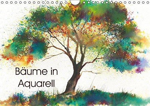 9783665452407: Bäume in Aquarell (Wandkalender 2017 DIN A4 quer): Handgemalte Baumaquarelle (Monatskalender, 14 Seiten )