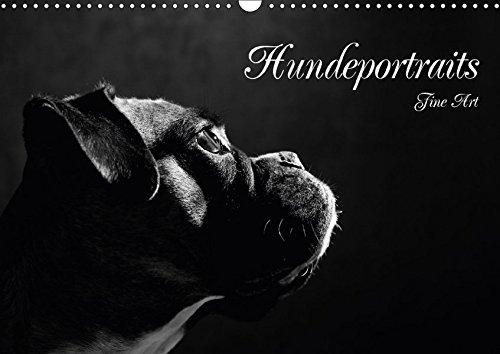 9783665493820: Hundeportraits Fine Art (Wandkalender 2017 DIN A3 quer): Hundeportraits in schwarz/weiß (Monatskalender, 14 Seiten )