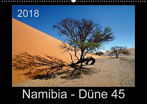 Namibia - Düne 45 (Wandkalender 2018 DIN A2 quer): Die wohl meistfotografierte Düne Afrikas (Monatskalender, 14 Seiten ) - Ewald Steenblock