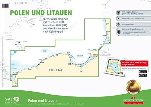 9783667100238: SportbootkartenSatz 13: Polen und Litauen (berichtigt bis 2015): Stettin bis Klaipeda mit Frischem Haff und Kurischem Haff und dem Fahrwasser nach Kaliningrad