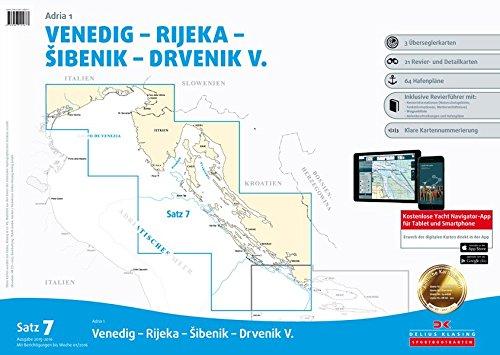 9783667105677: Sportbootkarten Satz 7: Adria 1 (berichtigt bis Januar 2016): Venedig - Rijeka - Sibenik - Drvenik V