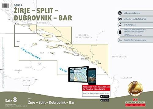 Sportbootkarten Satz 8: Adria 2 (berichtigt bis Januar 2016)