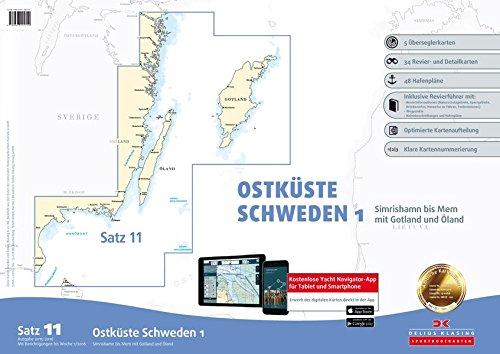 Sportbootkarten Satz 11: Ostküste Schweden 1 (berichtigt bis 1/2016)