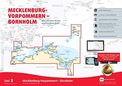 , Sportbootkarten Satz 2: Mecklenburg-Vorpommern - Bornholm (Ausgabe 2021)
