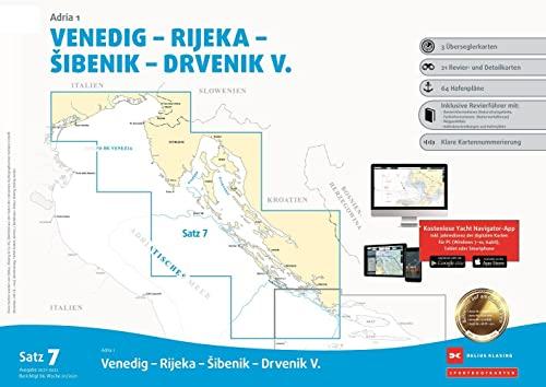 , Sportbootkarten Satz 7: Adria 1 (Ausgabe 2021/2022)