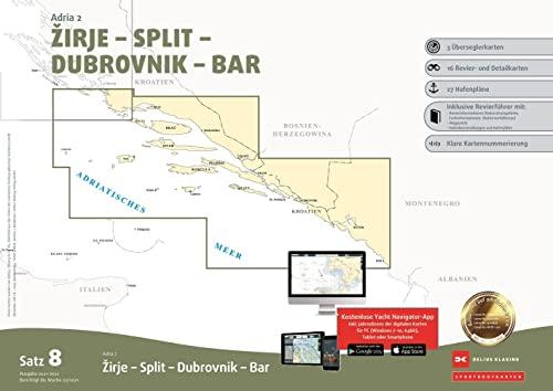 , Sportbootkarten Satz 8: Adria 2 (Ausgabe 2021/2022)