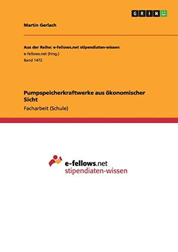 9783668005334: Pumpspeicherkraftwerke aus ökonomischer Sicht (German Edition)