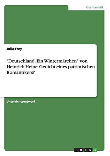 """Deutschland. Ein Wintermarchen"""" Von Heinrich Heine. Gedicht: Julia Frey"""