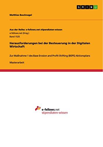 9783668014114: Herausforderungen bei der Besteuerung in der Digitalen Wirtschaft (German Edition)