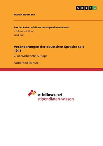 Veränderungen der deutschen Sprache seit 1945: Martin Neumann