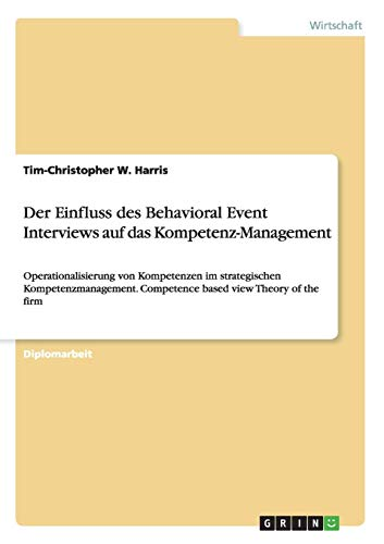 Der Einfluss des Behavioral Event Interviews auf: Harris, Tim-Christopher W.