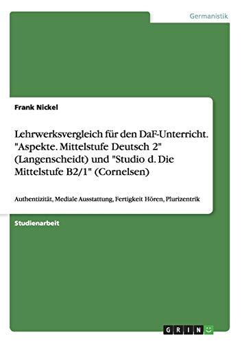9783668089938: Lehrwerksvergleich für den DaF-Unterricht.