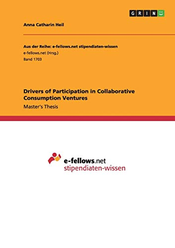 9783668131361: Drivers of Participation in Collaborative Consumption Ventures