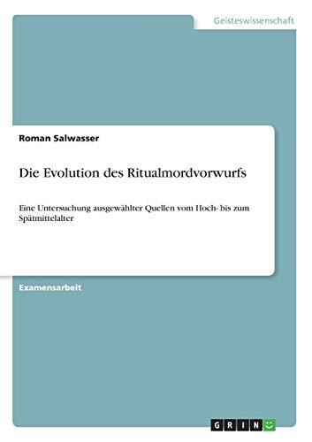 Die Evolution des Ritualmordvorwurfs: Roman Salwasser