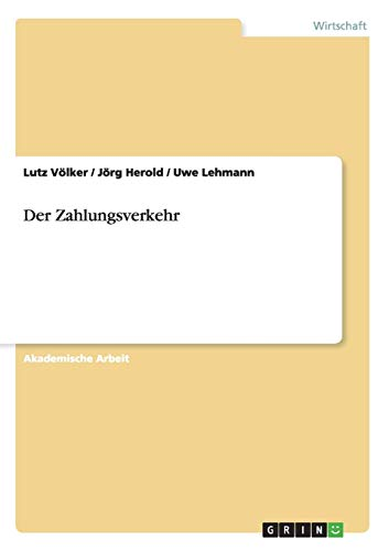 Der Zahlungsverkehr: Jörg Herold