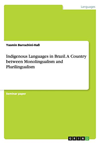 9783668198074: Indigenous Languages in Brazil. a Country Between Monolingualism and Plurilingualism
