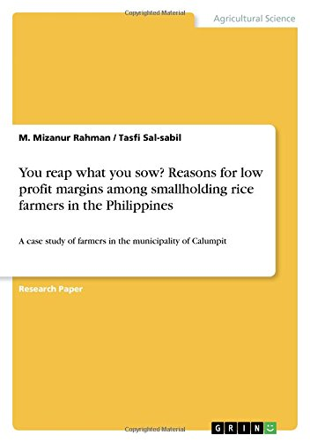 You reap what you sow? Reasons for: M. Mizanur Rahman;