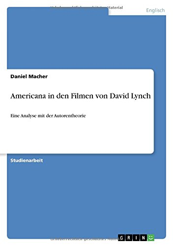 9783668270213: Americana in den Filmen von David Lynch