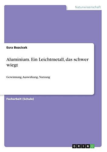 Aluminium. Ein Leichtmetall, das schwer wiegt: Esra Bozcicek