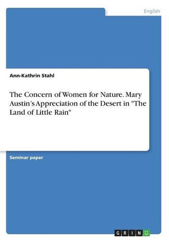 The Concern of Women for Nature. Mary: Ann-Kathrin Stahl