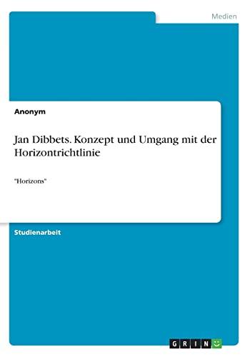 Jan Dibbets. Konzept Und Umgang Mit Der: Anonym