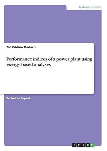 Performance Indices of a Power Plant Using: Zin Eddine Dadach