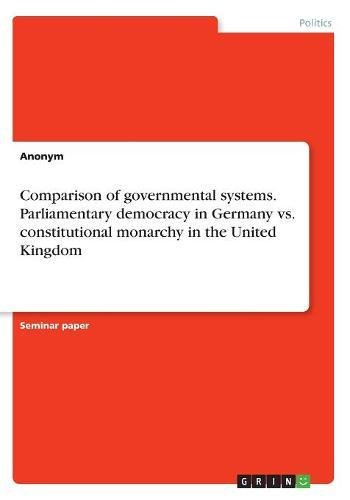 Comparison of governmental systems. Parliamentary democracy in: Anonym