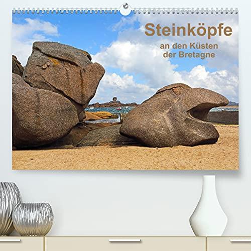 9783673879326: Steinköpfe an den Küsten der Bretagne (Premium, hochwertiger DIN A2 Wandkalender 2022, Kunstdruck in Hochglanz): von Wind und Wetter geschaffene ... Küsten (Monatskalender, 14 Seiten )
