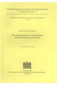 9783700125969: The Philosophical Inscription of Diogenes of Oinoanda (Erganzungsbande Tam)