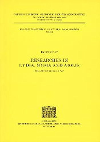 9783700128137: Researches in Lydia, Mysia and Aiolis (Erganzungsbande TAM)