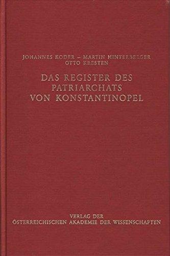 Das Register des Patriarchats von Konstantinopel: J Koder