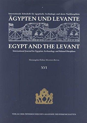 Ägypten und Levante/Egypt and the Levant. Internationale: Manfred Bietak